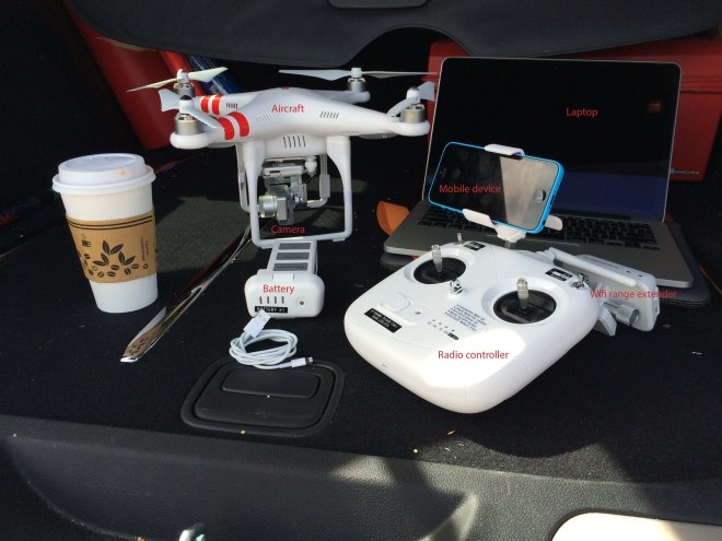 Physical components of DJI Phantom 2 Vision+
